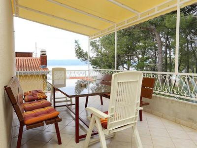 Photo for Four bedroom apartment with terrace and sea view Duće, Omiš (A-2829-a)
