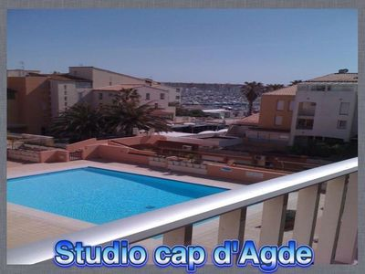 Photo for STUDIO WITH TERRACE IN THE CENTER PORT OF CAP D'AGDE VIEW ON SWIMMING POOL AND PORT