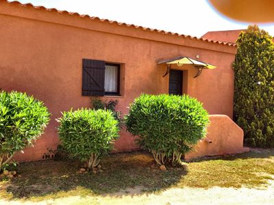 Photo for Small villa in quiet and closed park at 700 m from the beach of St Cyprien