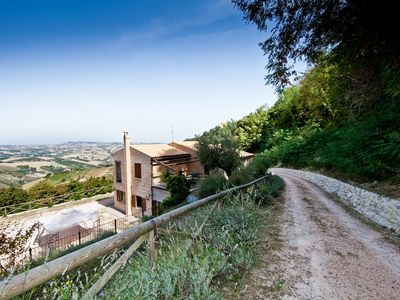 Photo for Wonderful house in the woods in Ripatransone, with panoramic views