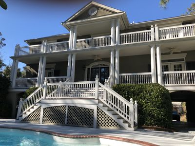 Photo for Book early for late summer  and fall! Charleston-style 6 BR Home  N Forest Beach