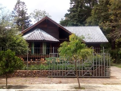 Photo for CHALET WITH SWIMMING POOL IN LAWN, CENTRAL AREA 3 BEDROOM, FIREPLACE, HEATING.