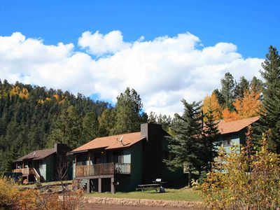 Photo for Views of Greer valley, mountains & private pond! 2 bedroom cabin at Antler Ridge