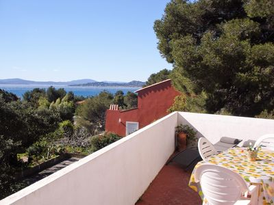 Photo for Apartment in Private Villa Seaside Les Issambres, exceptional sea view