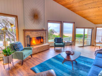 Photo for Oceanfront Home,Views, Hot tub and Miles of Sandy Beach!