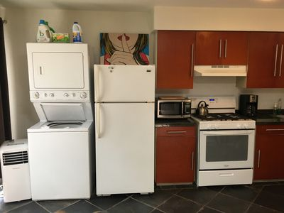Bungalow comes complete with washer/dryer, we supply detergent