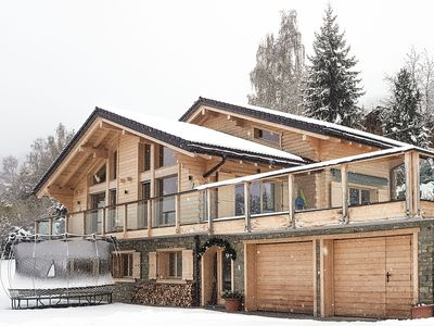 Photo for Chalet Calittum - Luxury 5-bedroom chalet with heated pool, jacuzzi and steam room