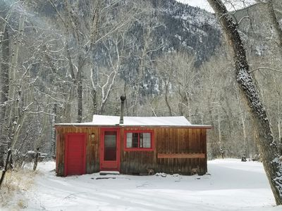 """Photo for Chalk Creek Canyon Cabins """"Hermit""""."""