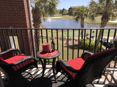 Photo for NEW LISTING!  UPDATED 2/2 CONDO OVERLOOKING THE GOLF COURSE/4 MILES TO BEACH