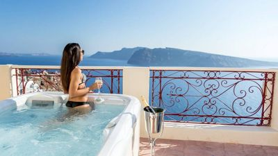 Photo for SPACE TO LIVE YOUR VACATION, VILLA NEPTUNE 4 BEDROOMS IN OIA SANTORINI