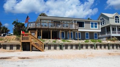 Vrbo & Oceanfront House with Private Beach Patio and Gameroom - South Ponte Vedra Beach
