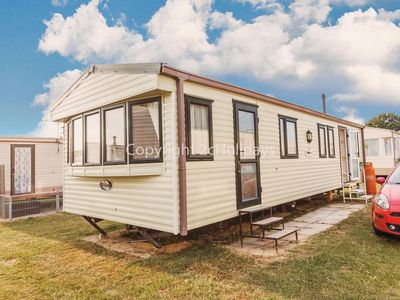 Photo for Caravan at Heacham in Norfolk sleeping 8 on a quiet holiday site. Dog friendly!