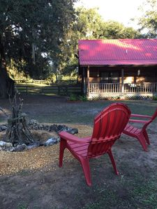 Photo for Charming log cabin near Ocala, HITS and Orlando ideal for family