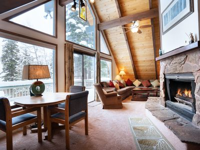 Photo for Spring Special! Custom-built 3-bedroom cabin with Martis Valley views.