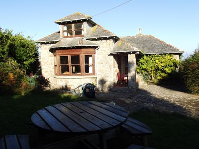Photo for Quaint Granite Cottage in St Ives with Garden, Parking for 3, Views & Wifi