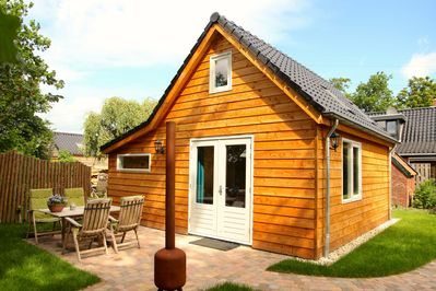 Our 4p.-ecolodge with fully equipped kitchen and bathroom with floor heating