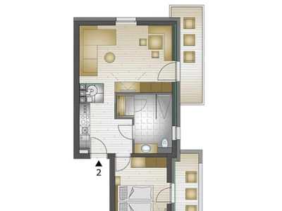 Photo for 64m² apartment, 2-4 persons - luxury apartments Bauer MÜLLERHAUS