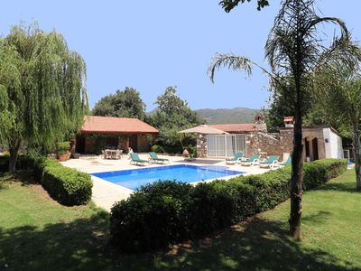 Photo for Restored stone villa with  garden of 1500 m2 & swimming pool in Kayakoy, Fethiye