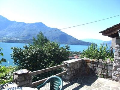 Photo for Holiday apartment with garden and with a magnificent view over Lake Como