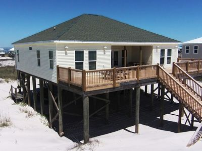 Photo for Classic home, directly on the beach. Tons of natural light!