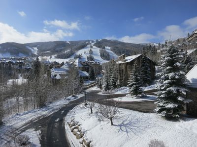 Photo for BEAUTIFUL MOUNTAIN VIEWS FROM THIS 2 BR Ski-in/Ski-out Cond