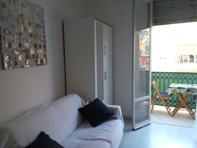 Photo for Beautiful bright studio with small terrace / Verdi Street