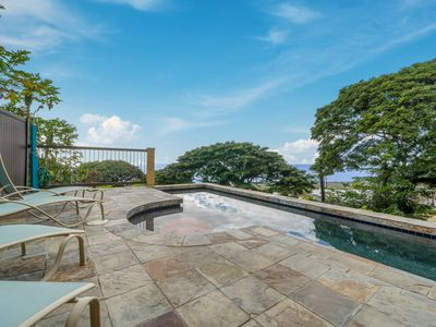 Photo for NEW LISTING! Ocean view Kona house w/ private pool, sunset views & large lanai!