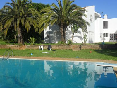 Photo for Villa 2200 m2 with private pool, jacuzzi and all comfort in Rabat. beach 15 mi