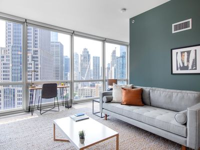 Photo for Dreamy Streeterville Convertible w/ Gym + Pool by Blueground