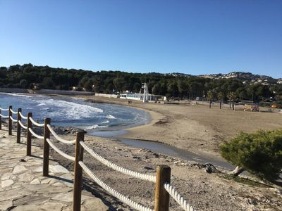 Photo for 2 bedroom apartment in Moraira. Beach at 150 meters. Large terrace, air cond