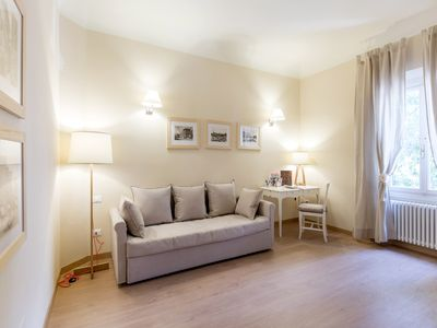Photo for Charming new apt in San Frediano Wi-Fi, AC, 1 bedroom, 1 living room, sleeps 1 to 4