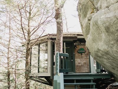 Photo for We Call This The Treehouse In The Exclusive Hound Ears Country Club Community