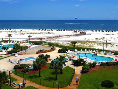 Photo for NEW LISTING! Gulf-front condo w/shared pool & hot tub - walk to beach