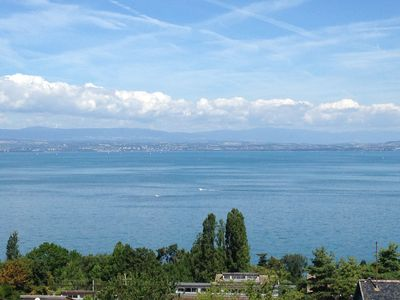Photo for Appt F3 800m from the Gulf of Evian, superb lake view ds residence with pool (4 / 6p)
