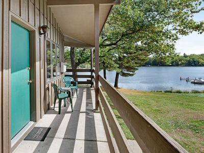 Photo for Lake view room in historic resort w/ access to dock, tennis & beach - dogs OK!