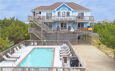 Photo for Fun Times at Semi-Oceanfront in Avon w/ Pool, Hot Tub, Game Room, Wet Bar & More