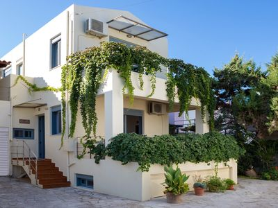 Photo for Beach villa in Almirida next to the sandy beach and all amenities
