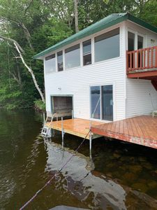 Photo for Charming Boathouse On The Edge Of Long Lake W/a180-degree View Of The Lake.