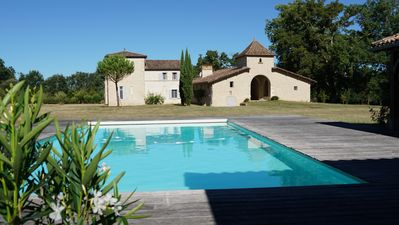 Photo for Château de La Salle, family house with pool house and fenced pool