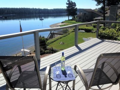 Photo for Waterfront Beach House on Pickering Passage - Hot Tub- Kayaks- Chef's Kitchen