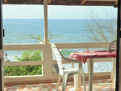 Photo for Cabano Alberte: large terrace facing the beach, pension