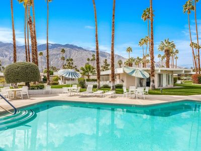 Photo for New Listing! Quiet Mid-Century Modern Retreat, Central Palm Springs, Mountain Views & 2 King Beds