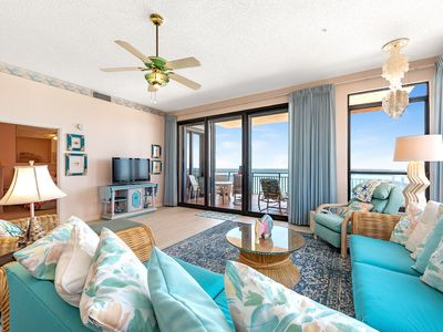 Photo for 1105E - Only steps to the sand in this 3BR/3BA condo