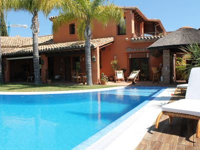 Photo for Spain / Marbella Puerto Banus Beautiful Mansion 5 rooms with splendid sea view !!