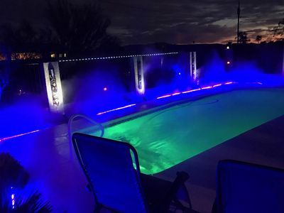 Photo for Havasu Retreat on Private Lot with Lake View with Mist/fog system- heated  pool