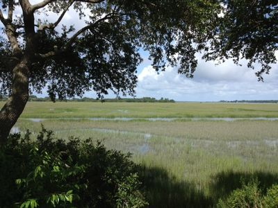 High tide marsh view from our porch!