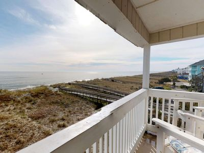 Photo for Oceanfront, Newly Renovated, Top Floor Condo! Family Friendly, Large Saltwater Pool, 2 Parking Spots