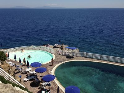 Photo for Villa on the Sea with swimming pool and private beach on Elba Island