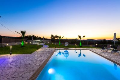 The villa is set in the nature with offering panoramic views of the sea