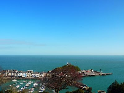 View of Ilfracombe Harbour from the balcony.